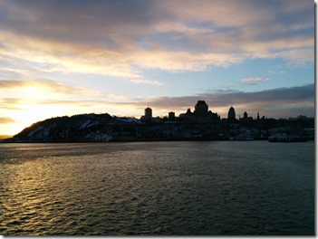 quebec city sunset
